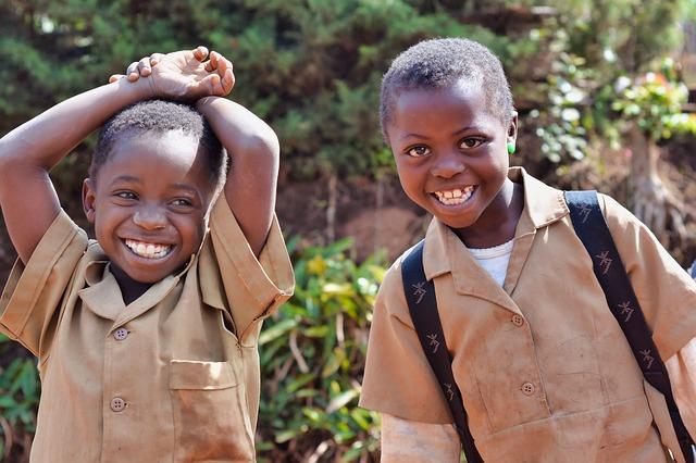 children pupils africa school smile