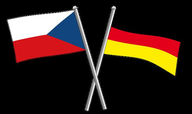 czech german flags