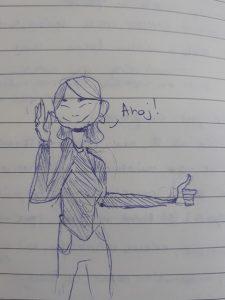 drawing of me as a volunteer