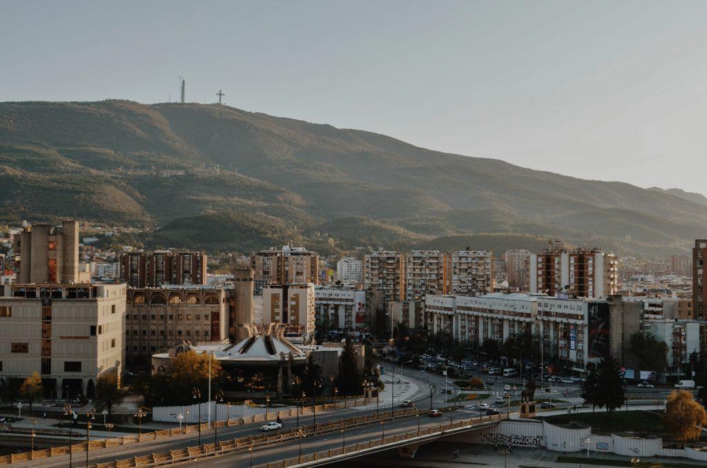 a view of skopje